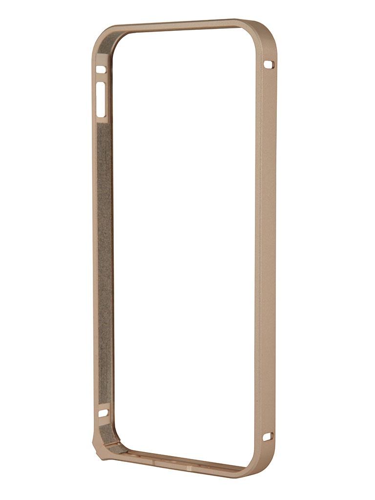 Аксессуар Чехол-бампер Deppa Alum Bumper for iPhone 5 / 5S Gold 63135