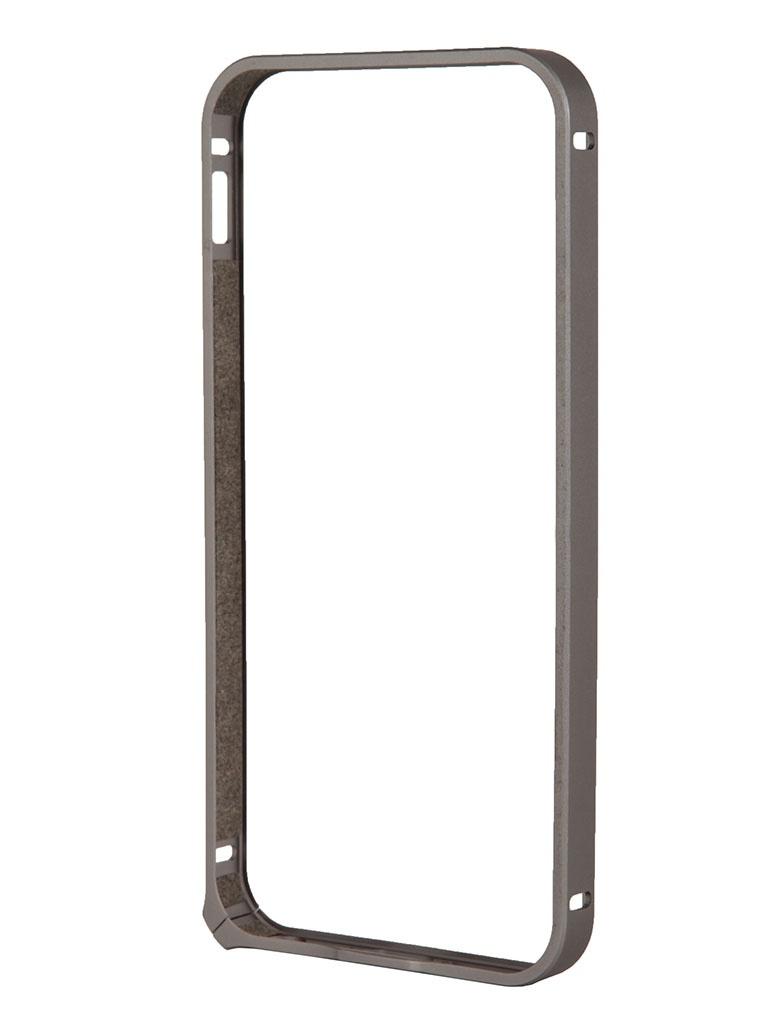 Аксессуар Чехол-бампер Deppa Alum Bumper for iPhone 5 / 5S Graphite 63136