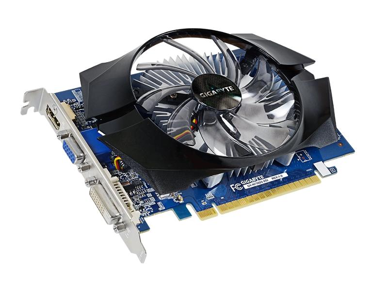 Фото - Видеокарта GigaByte GeForce GT 730 902Mhz PCI-E 2.0 2048Mb 5000Mhz 64 bit DVI HDMI HDCP GV-N730D5-2GI видеокарта gigabyte geforce gt 1030 1227mhz pci e 3 0 2048mb 6008mhz 64 bit dvi 2xhdmi hdcp low profile gv n1030d5 2gl
