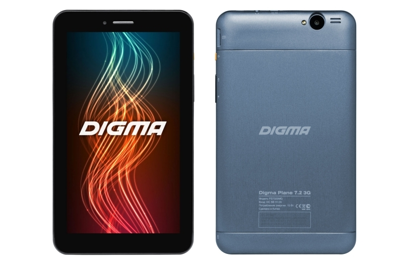 Digma ������� Plane 7.2 3G PS7020MG Dark Blue 910427 MTK8312 1.3 GHz/1024Mb/8Gb/GPS/Wi-Fi/3G/Blueto�
