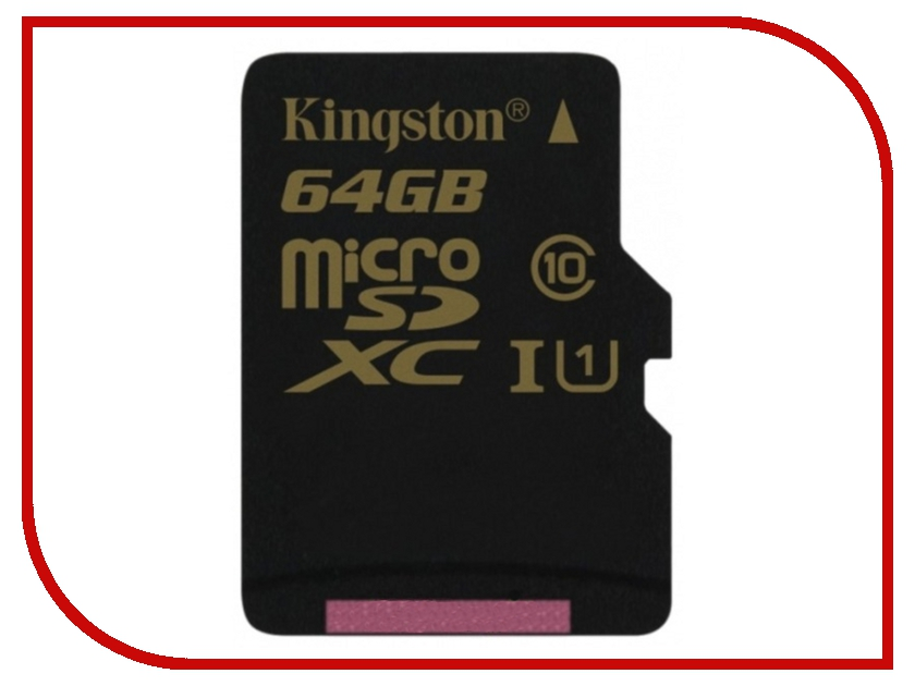 Карта памяти 64Gb - Kingston - Micro Secure Digital HC UHS-I Class 10 SDCA10/64GBSP карта памяти micro sdxc kingston sdca10 64gb