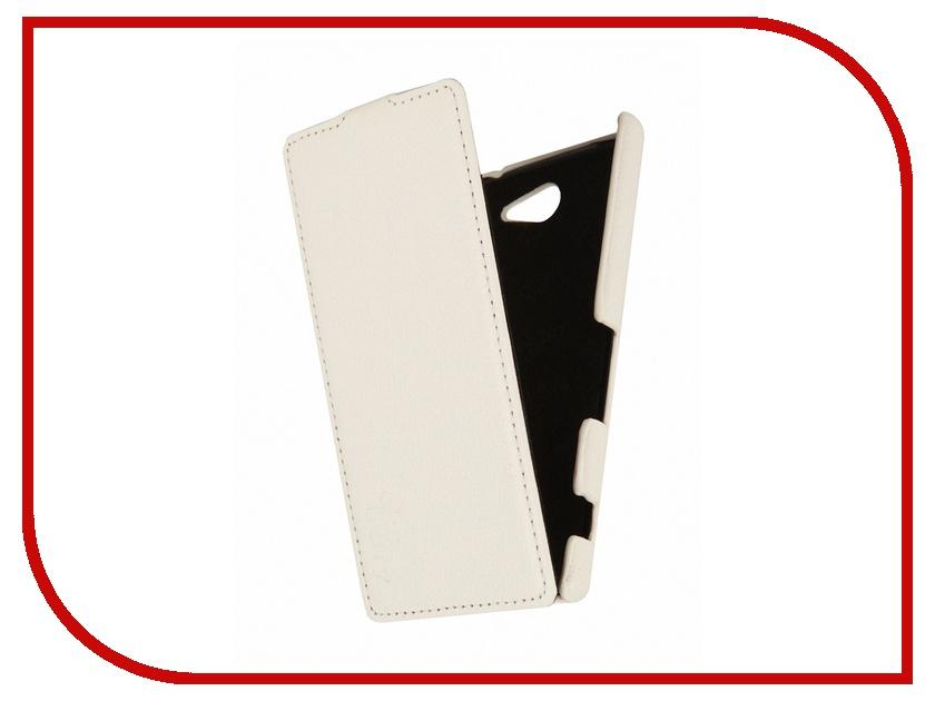 Аксессуар Чехол Sony D2302 Xperia M2 Dual Aksberry White<br>