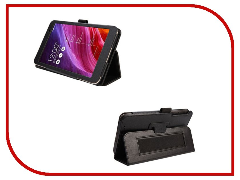 Аксессуар Чехол ASUS MeMO Pad 7 ME176 IT Baggage с функцией стенд Black ITASME1762-1 иск. кожа
