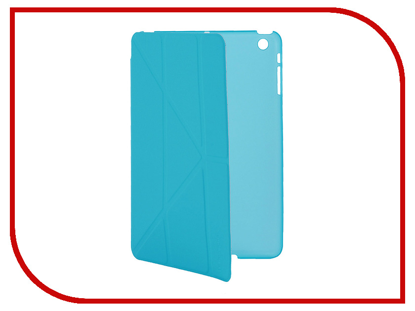Аксессуар Чехол IT Baggage для iPad Mini Retina hard case иск.кожа Blue ITIPMINI01-4