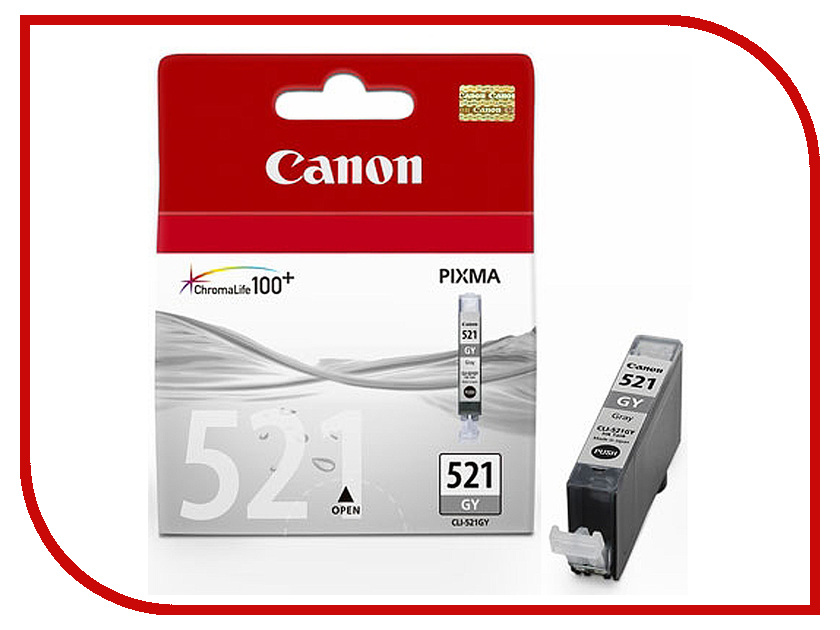 Картридж Canon CLI-521GY Grey для Pixma iP3600/iP4600/MP540/MP620/MP630/MP980 2937B004