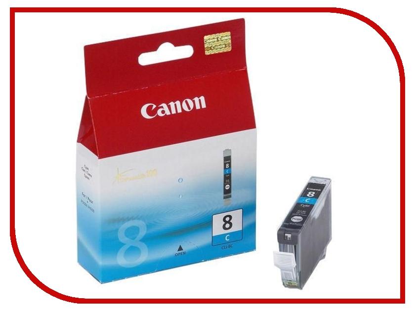 Картридж Canon CLI-8C для ip4200/ip5200 0621B024 набор картриджей canon cli 8c m y из 3х цветов для pixma mp800 mp500 ip6600d ip5200 ip5200r ip4200 ix5000 700 страниц