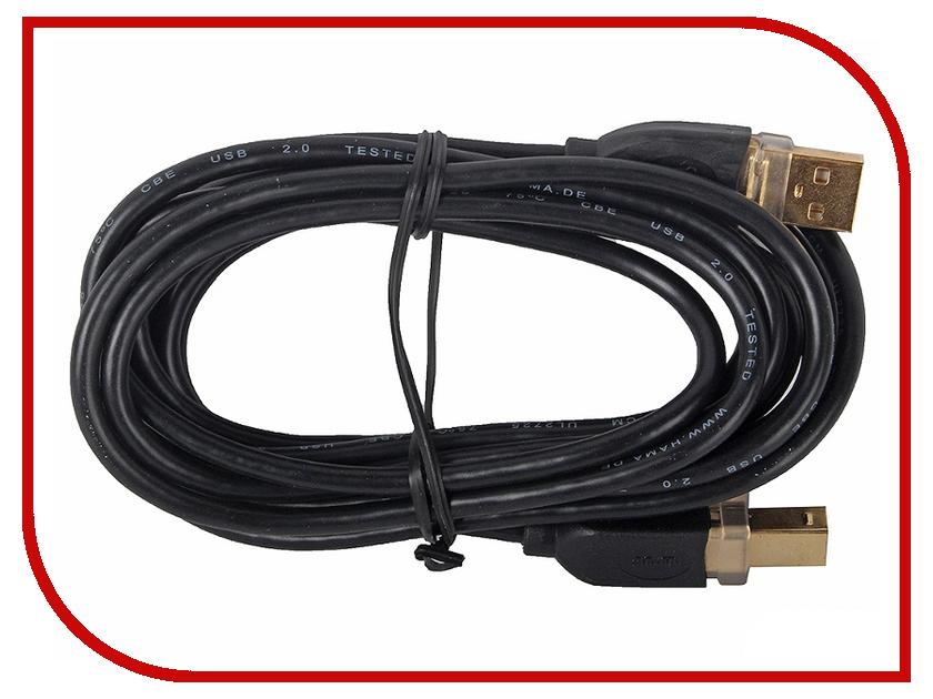 Аксессуар Hama USB A-B (m-m) 3 m Black 46772<br>