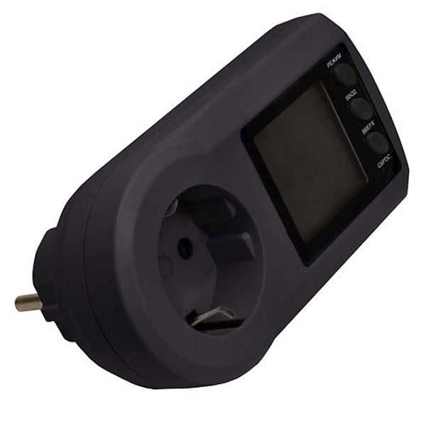 Счетчик электроэнергии Robiton PM-2 - ваттметр Black 12146 цена