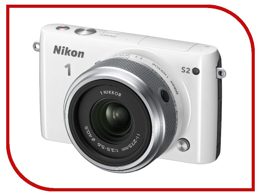 Фотоаппарат Nikon 1 S2 Kit 11-27.5 mm F/3.5-5.6 White