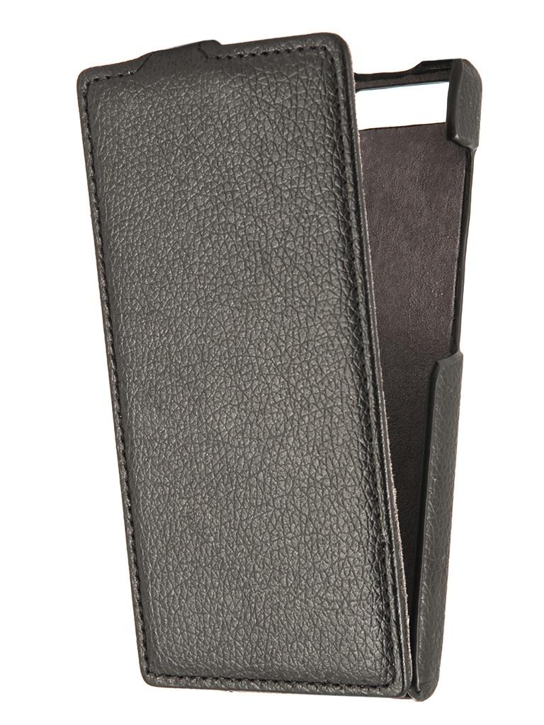 Аксессуар Чехол Huawei P7 Mini Partner Flip-case Black<br>