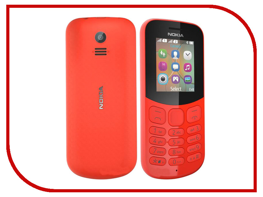 Сотовый телефон Nokia 130 Dual sim (2017) Red tyt tae yeong tbbq3 100iii dual power source automatic switch 16a 3p dual power transfer switch