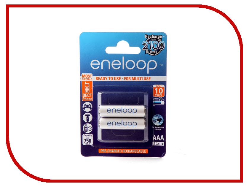 Аккумулятор AAA - Panasonic Eneloop 750 mAh (2 штуки) BK-4MCCE / 2BE