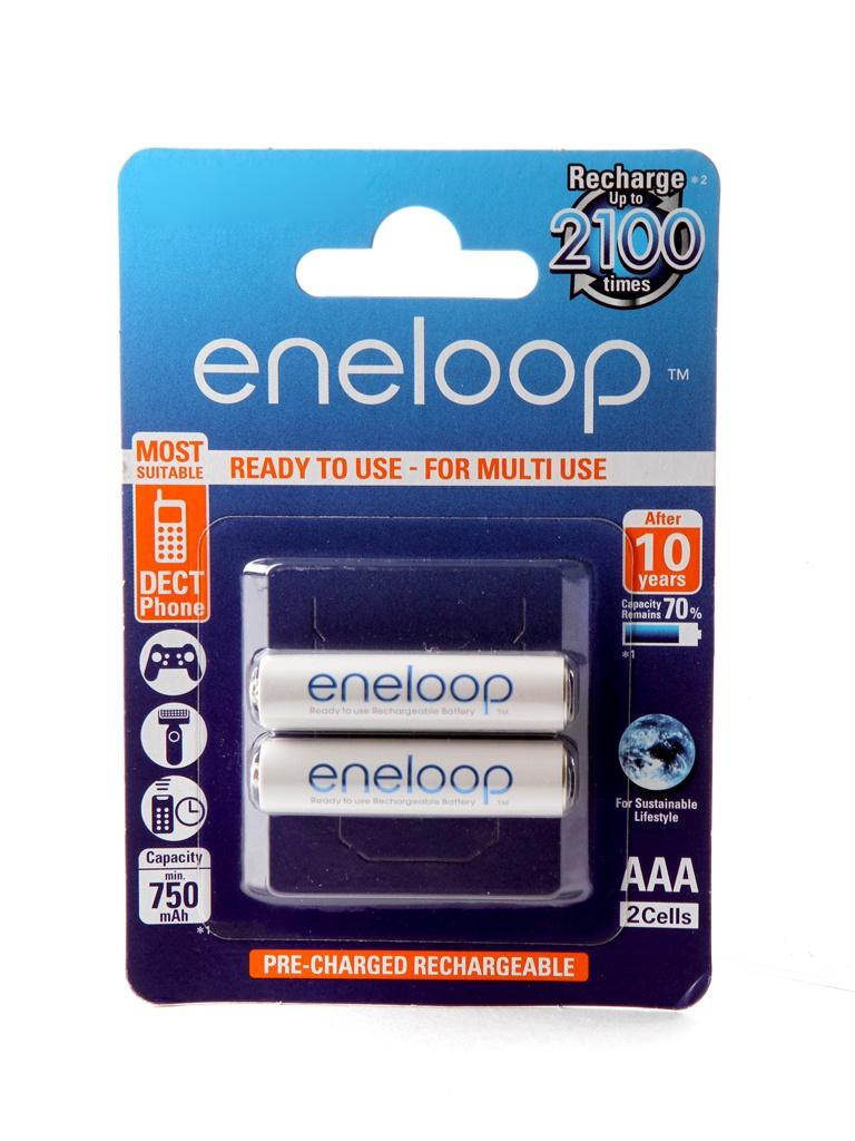 Аккумулятор AAA - Panasonic Eneloop 750 mAh (2 штуки) BK-4MCCE/2BE цена и фото