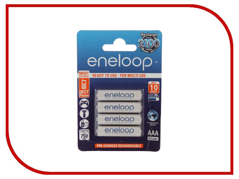 Аккумулятор AAA - Panasonic Eneloop 750 mAh (4 штуки) BK-4MCCE/4BE аккумулятор aaa fujitsu hr 4uthceu 2b 900 mah 2 штуки 84438