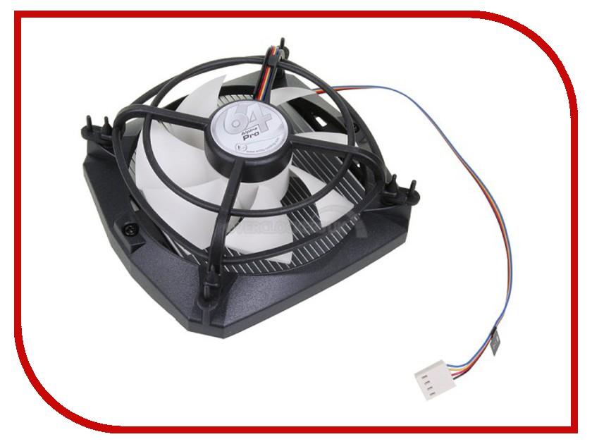 Кулер Arctic Cooling Alpine 64 PRO UCACO-A64D2-GBA01 (AMD AM2/AM2+/AM3/AM3+/FM1/S939) кулер для процессора arctic cooling alpine 64 gt rev 2 socket am2 am2 am3 754 939 ucaco p1600 gba01