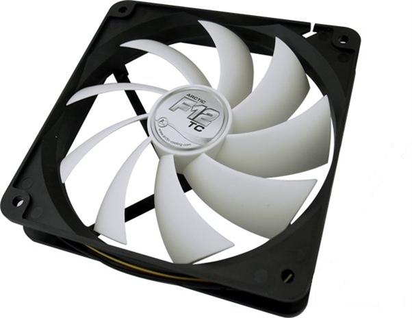 Вентилятор Arctic Cooling F12 TC термодатчик AFACO-120T0-GBA01 120mm вентилятор arctic cooling bionix f140 red 140мм 200 1800об мин acfan00095a