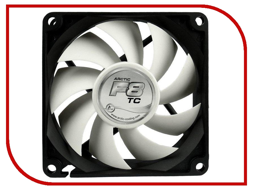 Вентилятор Arctic Cooling F8 TC термодатчик AFACO-080T0-GBA01 80mm cooler for cpu arctic cooling freezer 33 tr white acfre00039a 2066 2011v3 am4