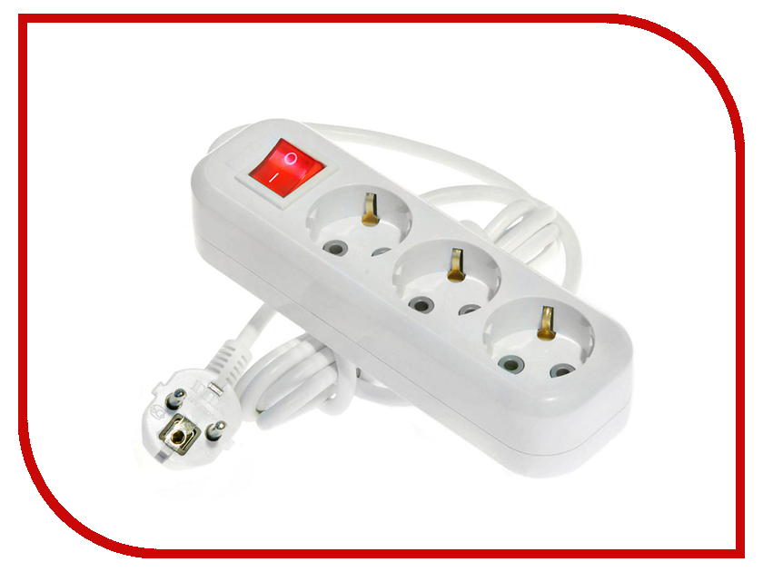 Сетевые фильтры и удлинители У3-ЕВК-03  Сетевой фильтр LUX У3-ЕВК-03 3 Sockets 3m 16A