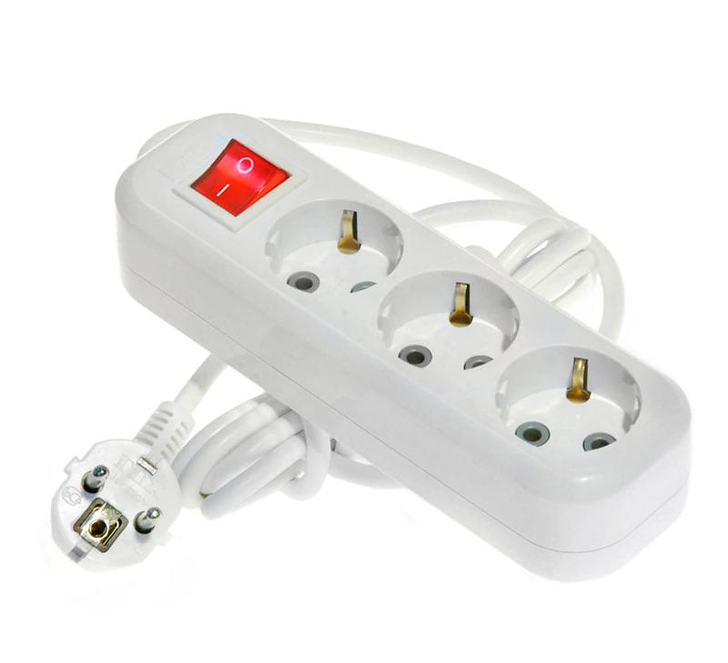 Сетевой фильтр LUX У3-ЕВК-03 3 Sockets 3m 16A