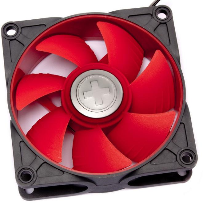 Вентилятор Xilence Case-Fan Grey-Red COO-XPF80.2CF 80x80x25mm