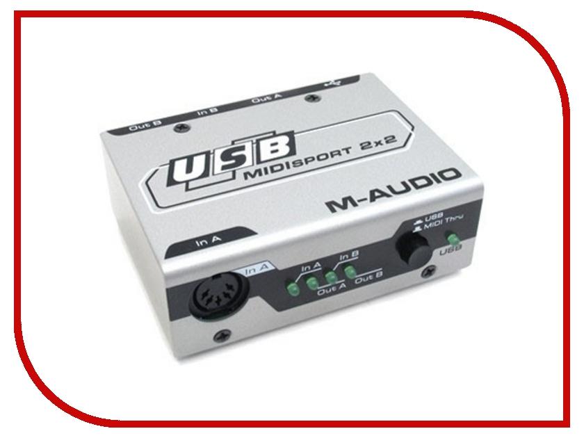 Аудиоинтерфейс M-Audio MidiSport 2x2 USB libro de ejercicios m 2 audio cds