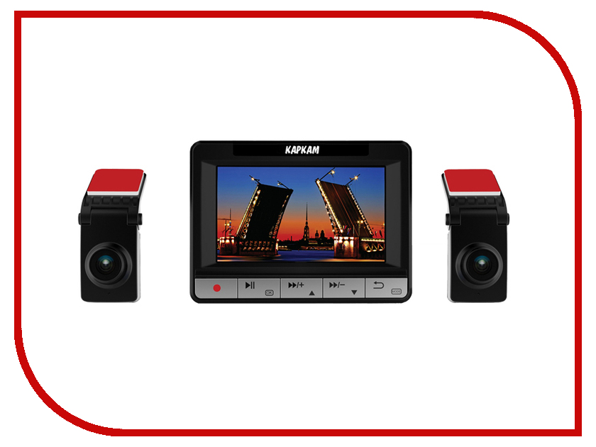 Видеорегистратор Каркам CarCam Дуо автомобильный видеорегистратор oem hd 1080p 170 dvr h 264 carcam blac kbox