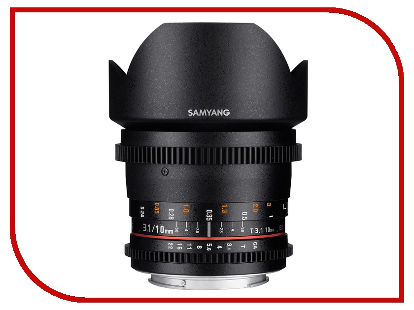 Объектив Samyang Nikon MF 10 mm T3.1 ED AS NCS CS VDSLR<br>