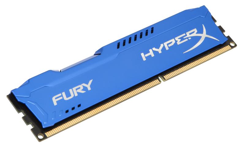 Модуль памяти Kingston HyperX Fury Series DDR3 DIMM 1600MHz PC3-12800 CL10 - 8Gb HX316C10F/8 модуль памяти kingston pc3 12800 so dimm ddr3 1600mhz 8gb kvr16s11 8