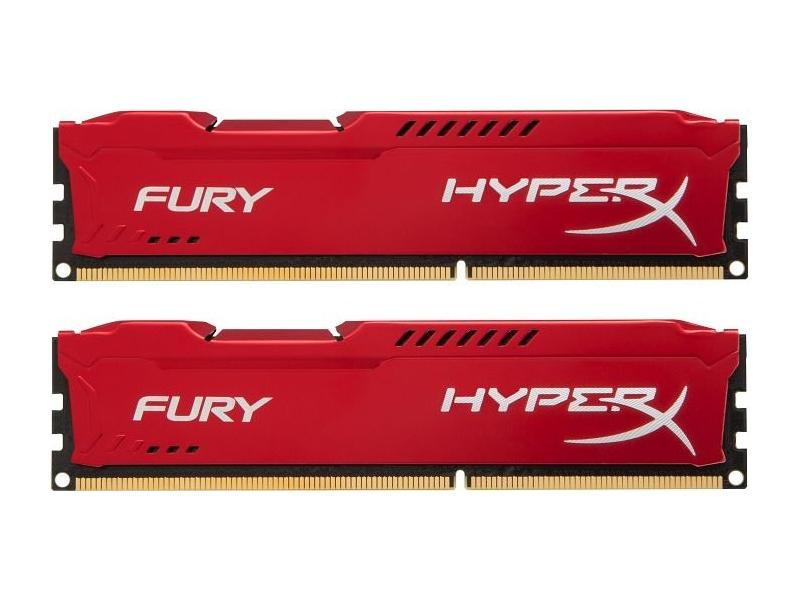 Модуль памяти Kingston HyperX Fury Red Series DDR3 DIMM 1866MHz PC3-15000 CL10 - 16Gb KIT (2x8Gb) HX318C10FRK2/16