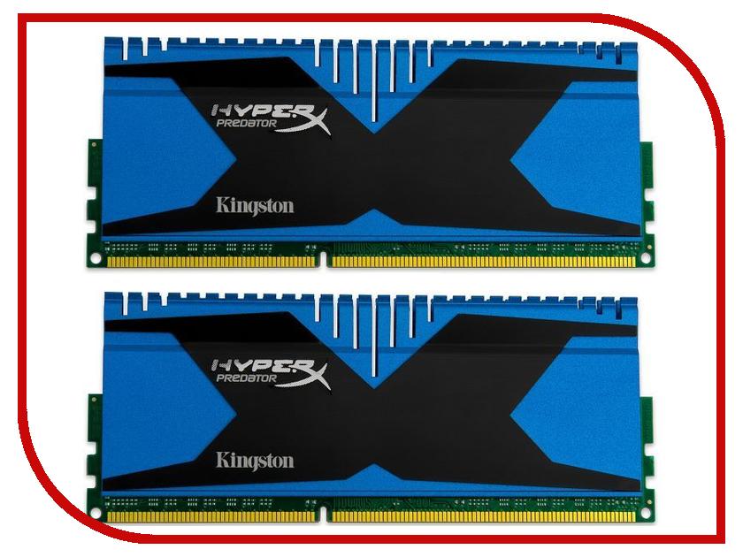 Модуль памяти Kingston HyperX Predator PC3-19200 DIMM DDR3 2400MHz - 8Gb KIT (2x4Gb) HX324C11T2K2/8 CL11<br>