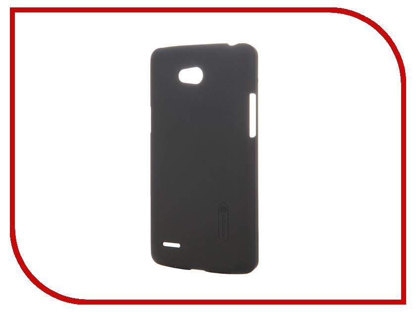 Аксессуар Чехол-накладка для LG L80 D380 Nillkin Frosted Shield Black