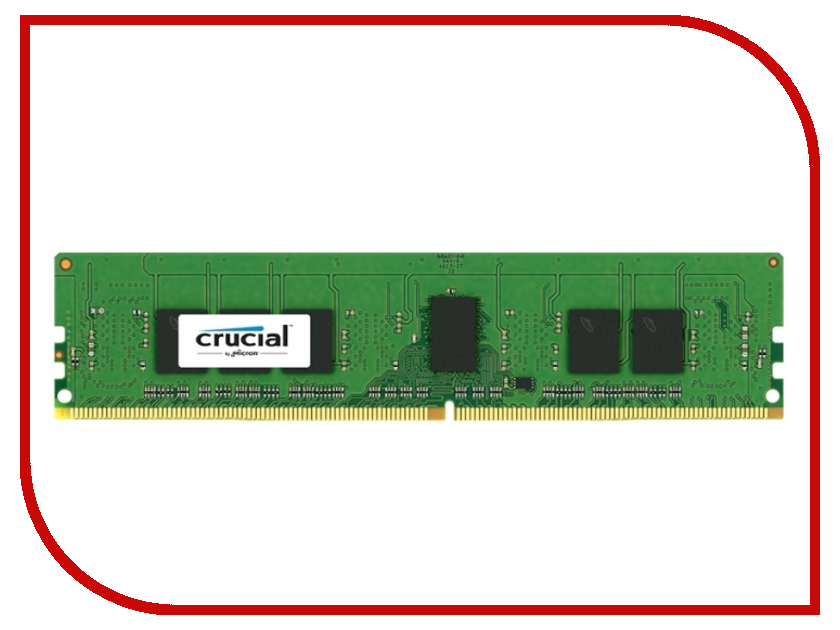 Модуль памяти Crucial DDR4 DIMM 2133MHz PC4-17000 ECC Reg 1.2V CL15 - 4Gb CT4G4DFS8213