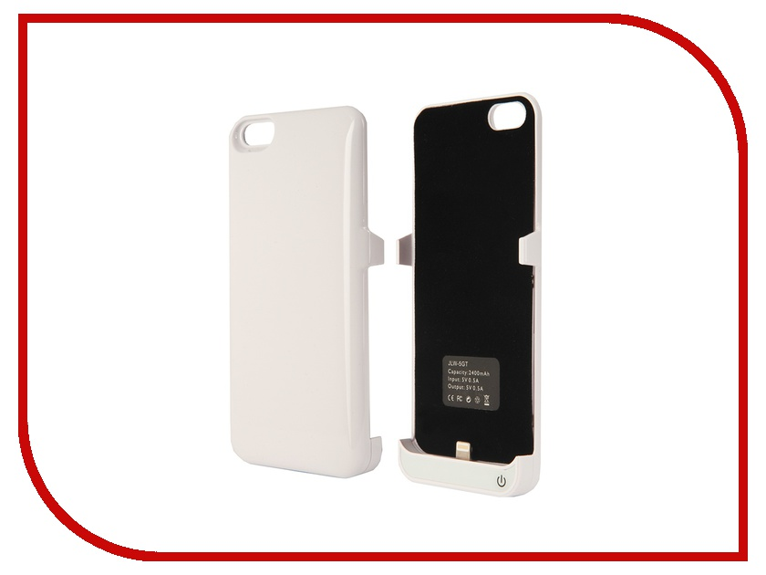 Аксессуар Aksberry 5GT for iPhone 5 / 5S / SE 2400 mA White<br>