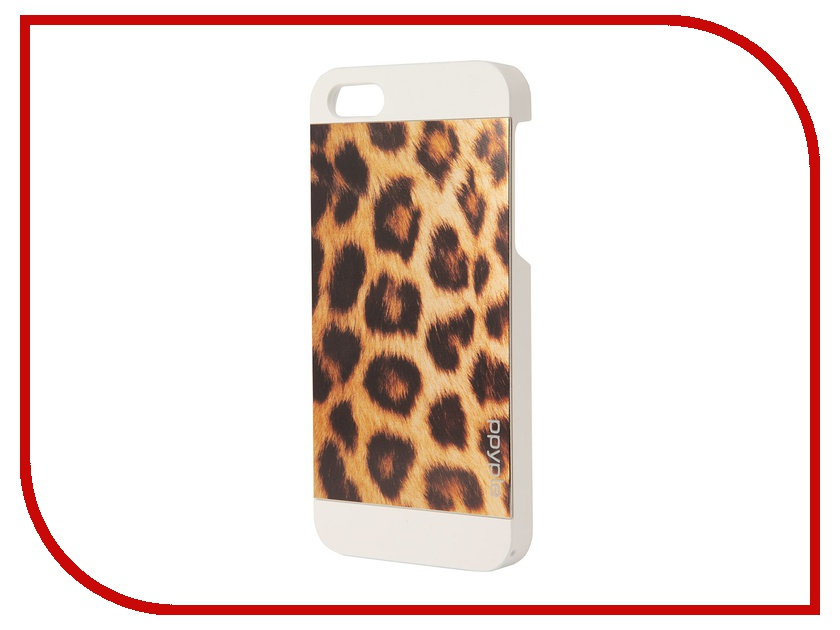 Аксессуар Чехол-накладка Ppyple Metal Jacket для iPhone 5 / 5S Leopard White<br>