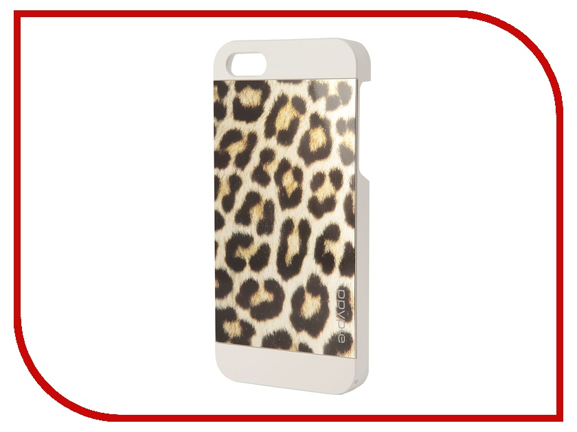 Аксессуар Чехол-накладка Ppyple Metal Jacket для iPhone 5 / 5S Snow Leopard White<br>