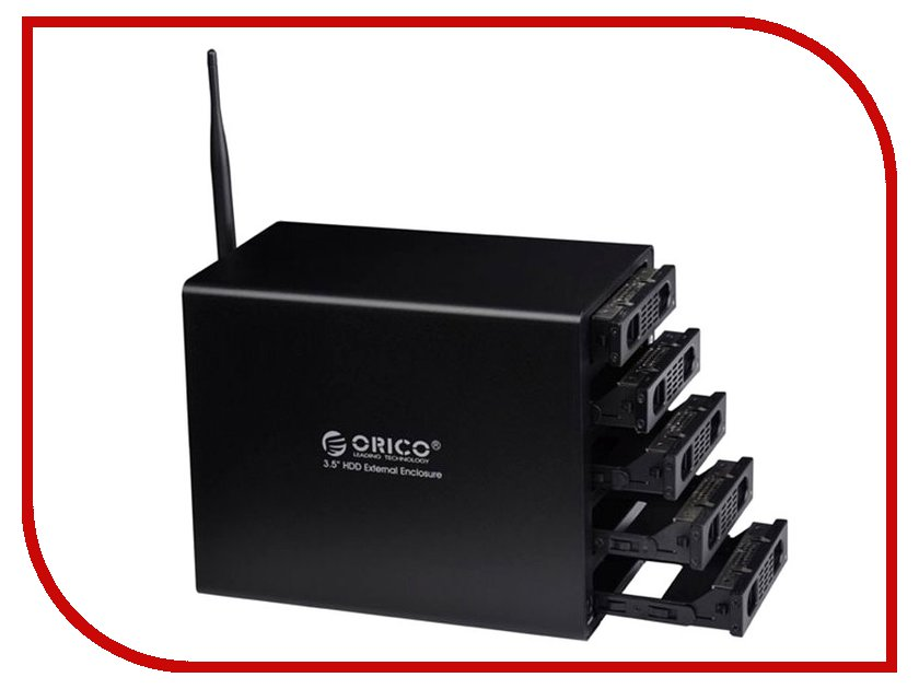 Сетевое хранилище Orico 3559U3RF Black<br>