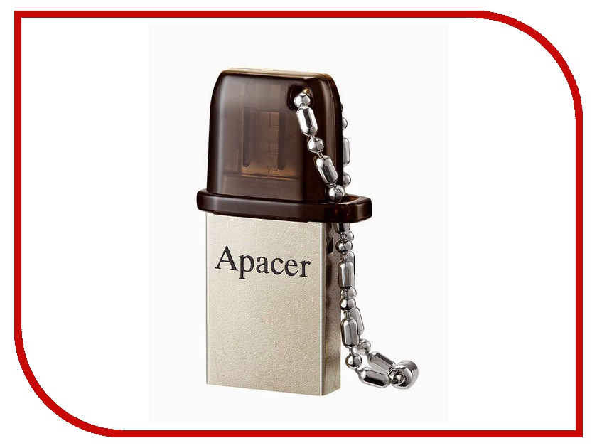USB Flash Drive 16Gb - Apacer AH175 Black AP16GAH175B-1 usb накопитель apacer ah117 16gb silver rp ap16gah117s 1