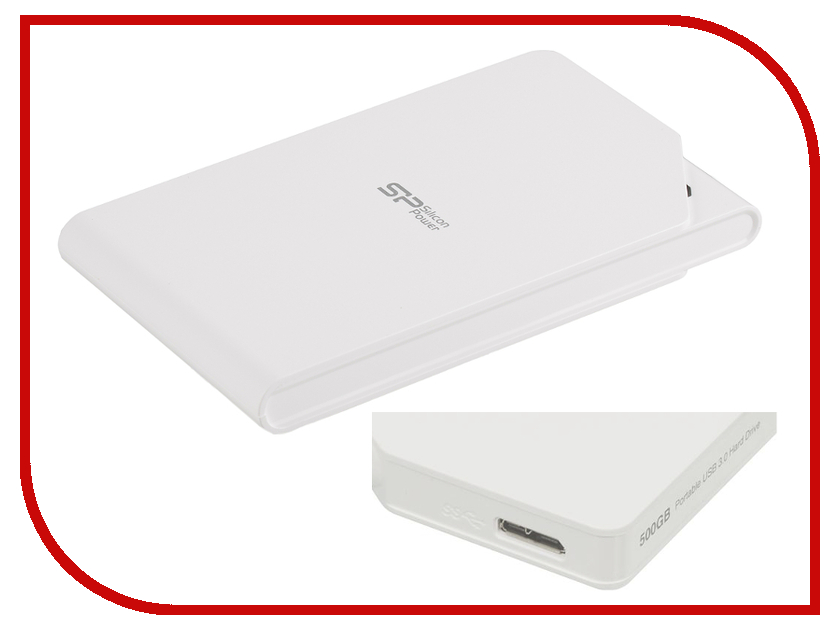 Жесткий диск Silicon Power Stream S03 2Tb White SP020TBPHDS03S3W