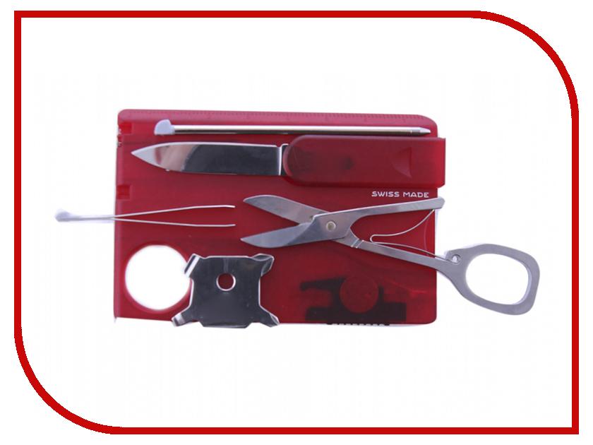 Мультитул Victorinox SwissCard Lite 0.7300.T Translucent Red