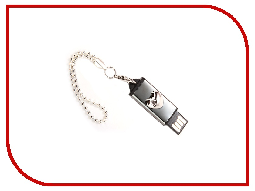 USB Flash Drive 16Gb - Iconik Сердечко Silver MTFC-LHEARTS-16GB<br>