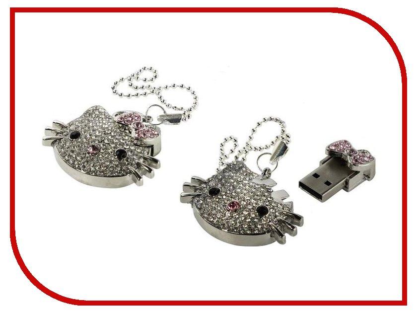 USB Flash Drive 8Gb - Iconik Hello Kitty Silver Swarovski MTFC-HKF-8GB<br>