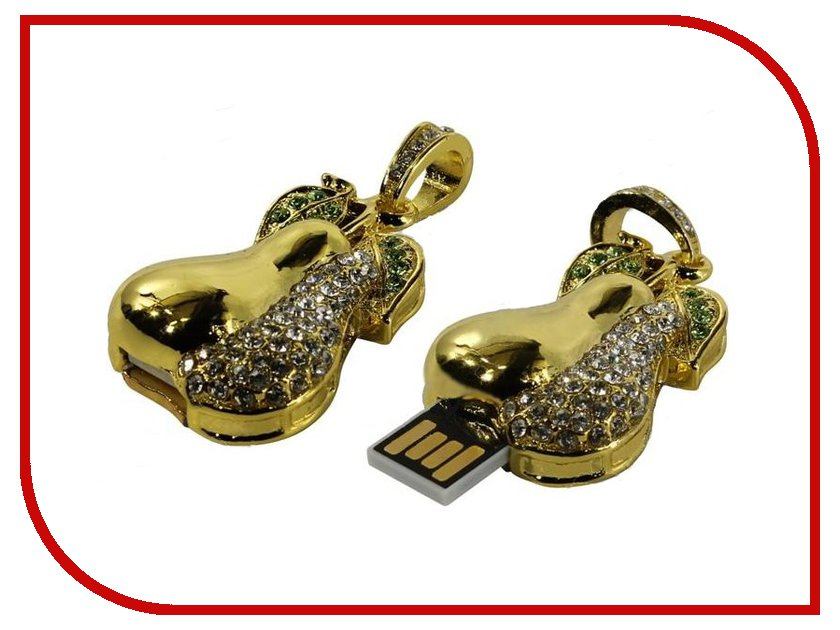 USB Flash Drive 8Gb - Iconik Груша Golden Swarovski MTFC-PEAR-8GB<br>