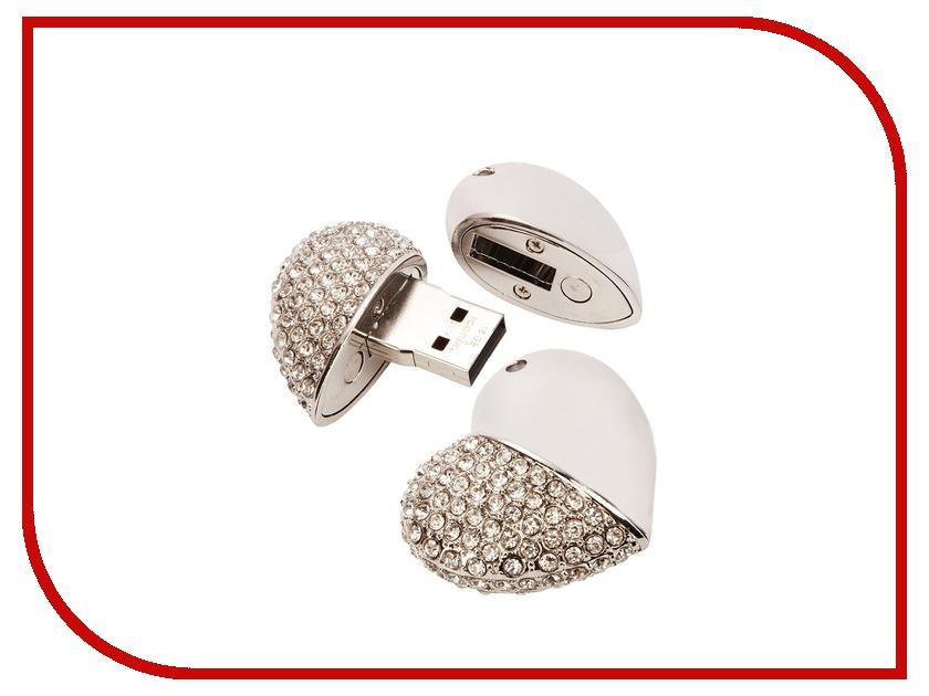 USB Flash Drive 8Gb - Iconik Сердце Silver Swarovski MTFC-HEART-8GB<br>