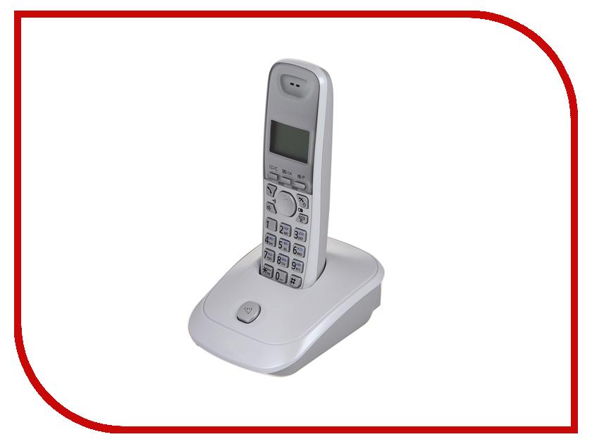Радиотелефон Panasonic KX-TG2511 RUW White атс panasonic kx tem824ru аналоговая 6 внешних и 16 внутренних линий предельная ёмкость 8 внешних и 24 внутренних линий