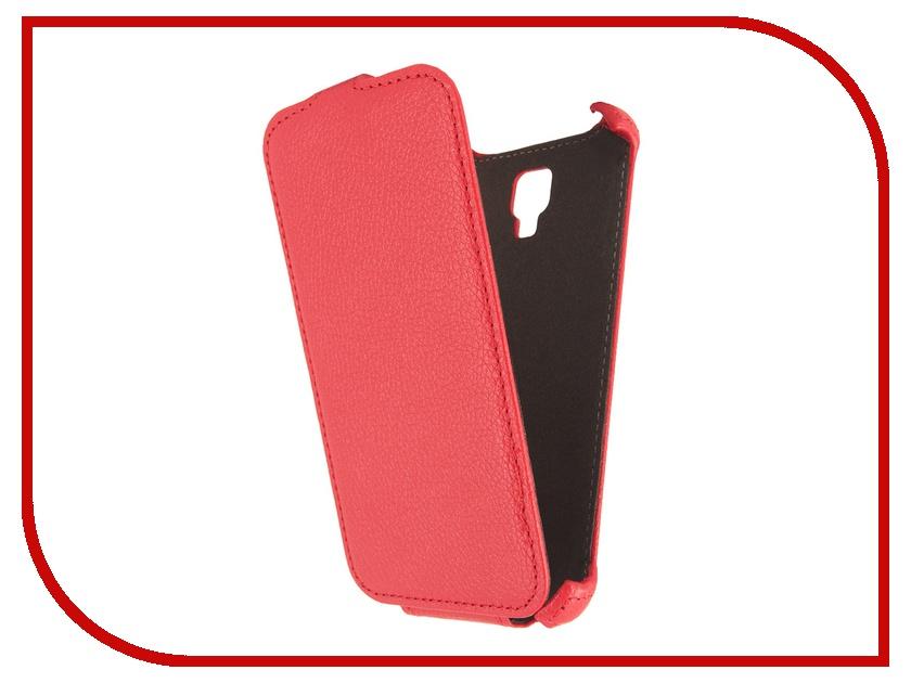 Аксессуар Чехол Ainy for Explay VEGA кожаный, вертикальный Red<br>