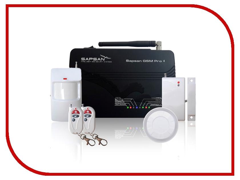 Комплект GSM сигнализация Sapsan GSM PRO 4 Эконом 00002601 sapsan gsm pro 7 беспроводная gsm сигнализация