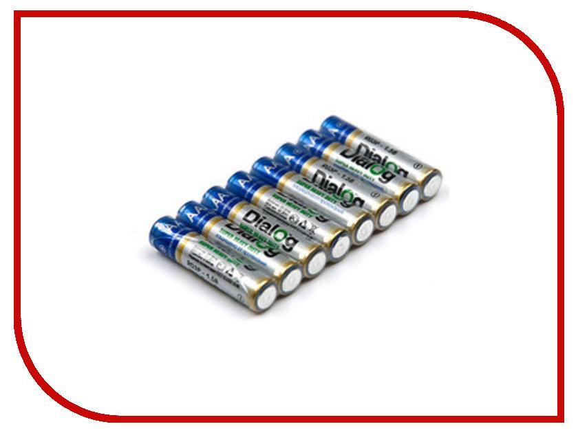 Батарейка AA - Dialog R6P-8S (8 штук)