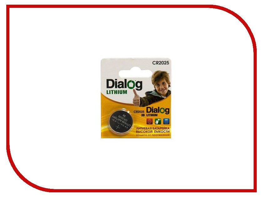 Батарейка CR2025 - Dialog CR2025 3V (1 штука)