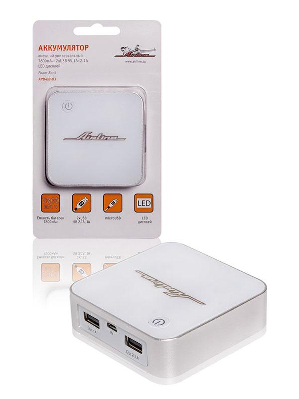 Зарядное устройство для автомобильных аккумуляторов Airline APB-08-03 8000 mAh<br>