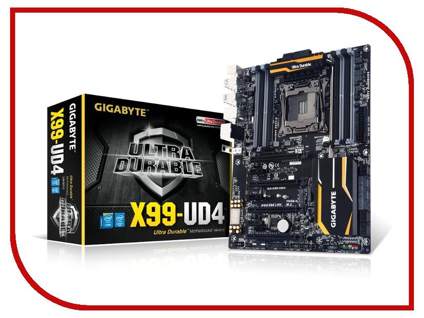 Материнская плата GigaByte GA-X99-UD4 (rev. 1.0) gigabyte ga x99 ud4 original used desktop motherboard x99 ud4 x99 lga 2011 v3 ddr4 64g sata 3 usb3 0 atx on sale